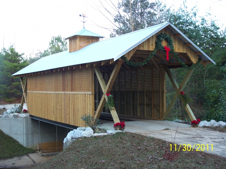 Huckleberry Bridge at Christmas